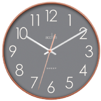 Acctim Hoxton Clock - Copper With Grey Face